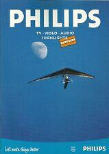 Philips Katalog Prospekt  : TV, Video, Audio Highlights 1998