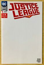JUSTICE LEAGUE #1 BLANK SKETCH VARIANT COVER DC AUGUST 2018 VF-NM