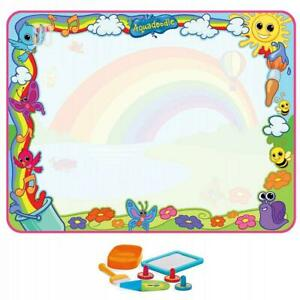 Tomy Aquadoodle Super Rainbow Deluxe Large Mess Free Water Drawing Mat Kids Toy