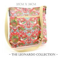 Strawberry Thief by William Morris | Cross Body Shoulder Messenger Bag Handbag