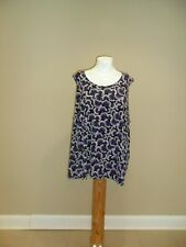 Catherines Women's plus sleeveless Tank Top Black /Purple Floral 3X(26w/28w) NEW