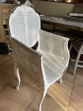 More details for six stunning french antique style woven dining chairs
