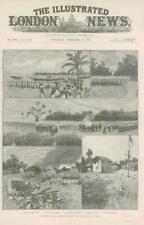 1890-antica stampa AFRICA East Coast British Naval Expedition witu (074)