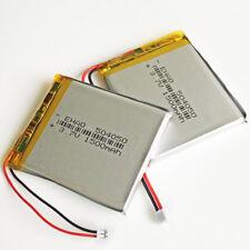 2 pcs 3.7V 1500mAh Lipo Polymer Battery JST 1.25mm for GPS mobile phone 504050