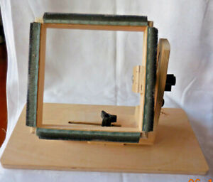 Wooden Square Rug Hooking Frame Needle Punch 8 Inch K's Creations Adjustable Lap