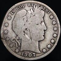 1907 D | U.S.A. Barber Half Dollar | Silver | Coins | KM Coins