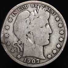 More details for 1907 d   u.s.a. barber half dollar   silver   coins   km coins