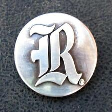 Lot of 5 Rice Owls letter R conchos screw back dipped in pure silver
