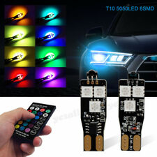 2x RGB Canbus Error Free T10 Car LED Side Wedge Lights Bulbs Remote Control Kit