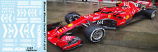 1/43  FERRARI SF71H 2018 MISSION WINNOW DECALS VETTEL RAIKKONEN TB DECAL TBD339