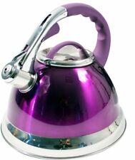 3.5L Stainless Steel Whistling Kettle with Silicone Handle Purple