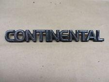 "LINCOLN CONTINENTAL EMBLEM   "" CONTINENTAL ""  CHROME PLASTIC OEM"