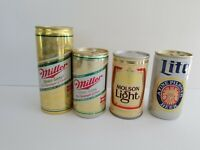 Miller Lite, Miller High Life, & Molson Light Push Button Pull Tabs Beer Cans