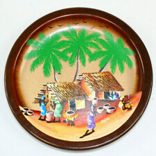 "Jamaican Caribbean Plate Hand Painted Signed Gem94 Decorative Ceramic 7.75"" Mint"