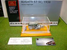 MOTEUR MOTOR AGGREGAT BUGATTI 57SC de 1938 au 1/18 CMC M112 miniature voiture