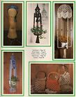 Hanging Table  Purse Patterns - Craft Book: What in the Macrame is it