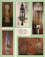 Hanging Table & Purse Patterns - Craft Book: What in the Macrame is it?