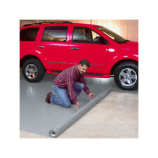 Garage Floor Mat Covering Protector Waterproof Auto Car Parking PVC 7.5x17 Grey