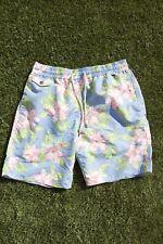 Polo Ralph Lauren Mens Blue Hawaiian Floral Swim Trunks Board Shorts Size Medium