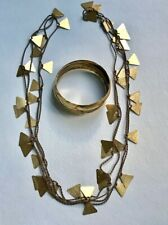 Bracelet is S/S Gold Leaf. Loeber+ Look Handmade Bracelet & Necklace.