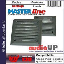 Griglie Altoparlanti diametro 130mm Universali Coppia colore Grigio Masterline