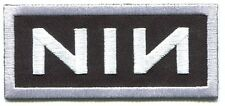 NINE INCH NAILS nin white outline EMBROIDERED IRON-ON PATCH **FREE SHIPPING**