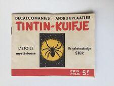 TINTIN DECALCOMANIES L ETOILE MYSTERIEUSE KUIFJE / HERGE /