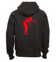 "Sweat shirt noir capuche homme zippé fruit of the loom ZOMBIE ""2"