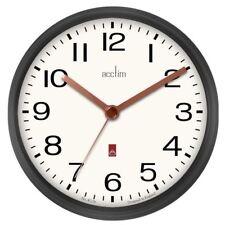 Acctim Alvis White Dial Gunmetal Grey Case Wall Clock 29233