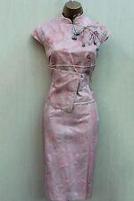 Karen Millen Pink Floral Jacquard Geisha Oriental Style Races Wedding Dress UK 8
