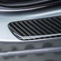 2X Car Door Sill Carbon Fiber Scuff Plate Cover Panel Step Protector  Universal
