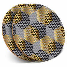 2 x Coasters - Gold Luxury Elegant Art Deco Home Gift #12594