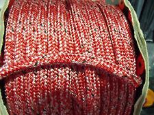 Treccia Su Corda Treccia Poliestere 10 mm di diametro (Rosso Fleck) Marlow