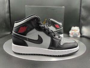 "Nike Air Jordan 1 Mid GS ""Shadow"" Grade School 5Y Women's 6.5 554725-096"