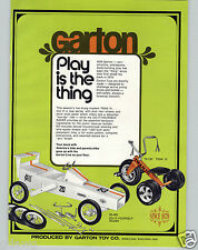 1973 PAPER AD Garton Toy Play Pedal Car Racer Dragster Pennzoil Lo Boy Trak III