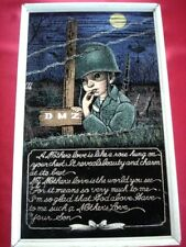 Korea Vietnam DMZ Framed Art US Army Soldier Tribute to a Mother's Love 16.5x10""