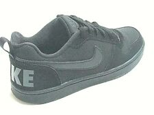 Nike Court Borough Low Boys Shoes Trainers Uk Size 3 - 6 839985 001 black