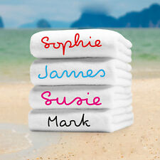 Love the Island Beach Towel Personalised Water Bottle Inspire AnyName Microfibre