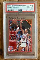 1992 NBA Hoops Superstars Dennis Rodman PSA 10 POP 7