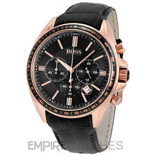 *NEW* MENS HUGO BOSS DRIVER CHRONOGRAPH ROSE GOLD WATCH - 1513092 - RRP £350.00