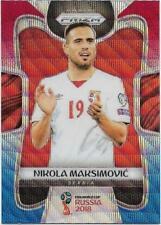 2018 Panini FIFA World Cup Blue Red Wave Prizm (186) Nikola MAKSIMOVIC Serbia