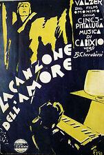 SPARTITO LA CANZONE DELL'AMORE  ANNO 1930-IX° ERA FASCISTA MANDOLINO-CANTO