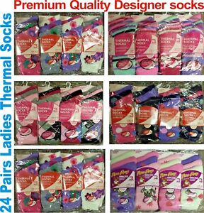 24 Pairs Ladies Women Socks Winter Snow Warm Thermal Extra Thick Suit