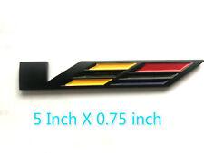 Black Out  Large V 5''  Emblem Rear Fender Badge SLSCTS SRX XLR STS For Cadillac