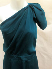 The Limited 4 Dress Green Teal One Shoulder Draped