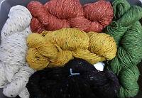 50gram Balls (1. 75ozs) 100% Knitting Wool Donegal Aran Tweed Yarn Ireland