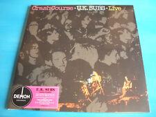 U.K. Subs Crash Course Live red Vinyl LP Album Reissue Deluxe Gatefold 180g