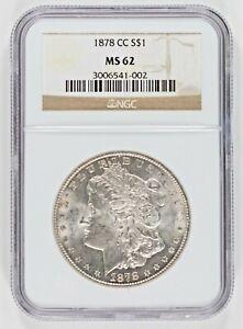 1878-CC Morgan Silver  Dollar NGC MS62