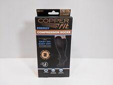 Copper Fit Energy Compression Socks 1 Pair Black Size L/XL Unisex