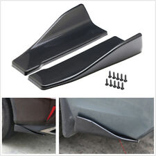 2Pcs Carbon Fiber Look Car Rear Bumper Lip Diffuser Splitter Spoiler Wing Canard